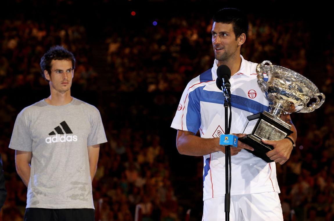 Il loro primo incontro Slam avvenne solo nel 2011, nella finale degli Australian Open: vinse Djokovic in tre set.